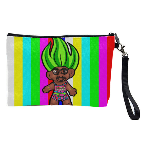Mr Motivator 90s Troll - pretty makeup bag by Niomi Fogden