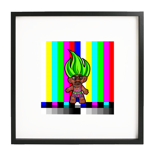 Mr Motivator 90s Troll - printed framed picture by Niomi Fogden