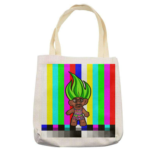 Mr Motivator 90s Troll - printed tote bag by Niomi Fogden