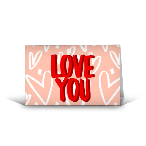 Love You - funny greeting card by Giddy Kipper