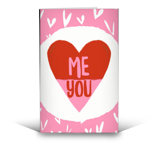 Me & You - funny greeting card by Giddy Kipper