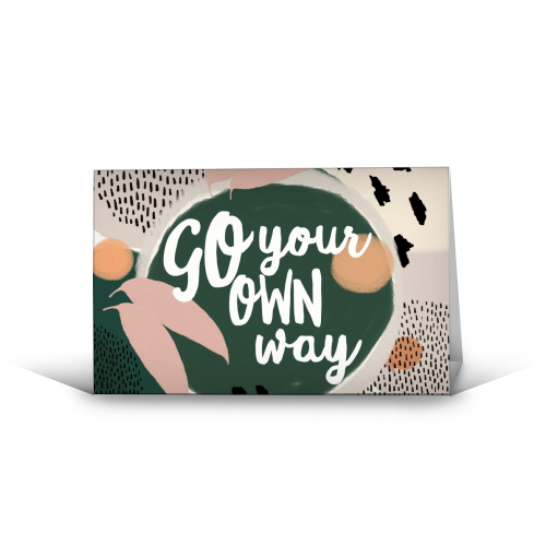 Go Your Own Way - funny greeting card by Giddy Kipper