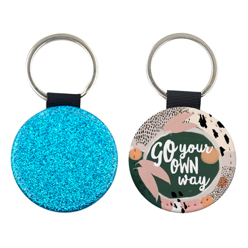 Go Your Own Way - personalised leather keyring by Giddy Kipper