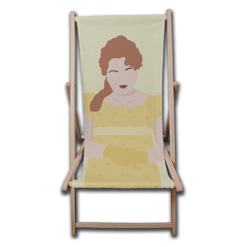 Penelope Featherington of Bridgerton - canvas deck chair by Cheryl Boland