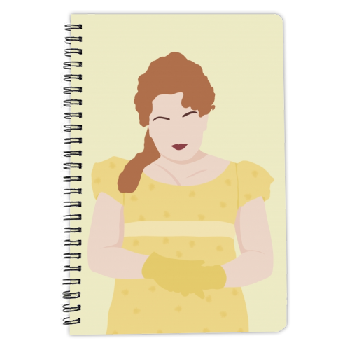 Penelope Featherington of Bridgerton - designed notebook by Cheryl Boland