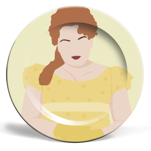 Penelope Featherington of Bridgerton - personalised dinner plate by Cheryl Boland