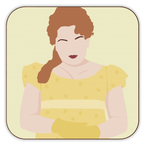 Penelope Featherington of Bridgerton - personalised drink coaster by Cheryl Boland