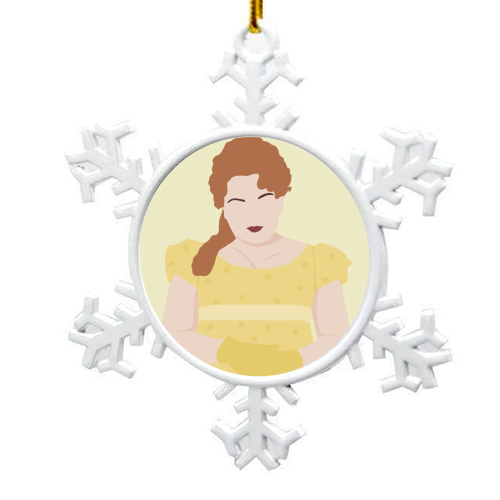 Penelope Featherington of Bridgerton - snowflake decoration by Cheryl Boland