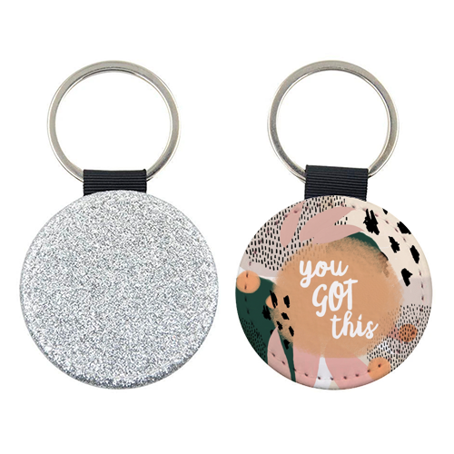 You Got This - personalised leather keyring by Heidi Clawson