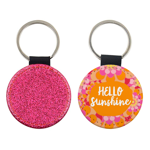 Hello Sunshine - personalised leather keyring by Giddy Kipper