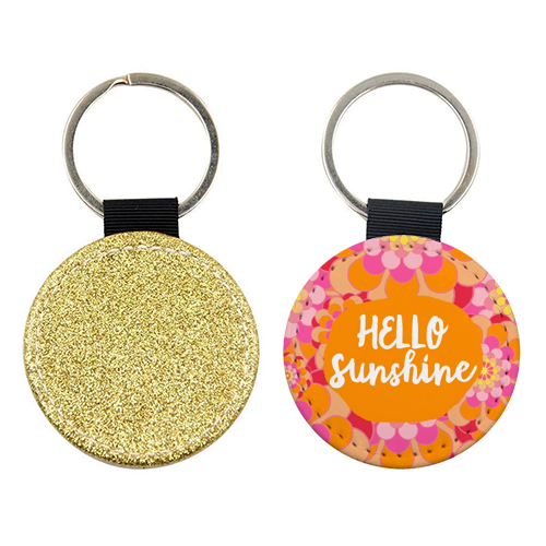 Hello Sunshine - personalised leather keyring by Heidi Clawson