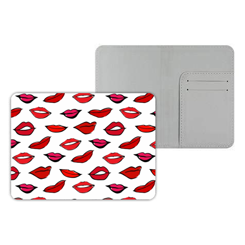Red & Pink Lippy Pattern 2021 - designer passport cover by Bec Broomhall