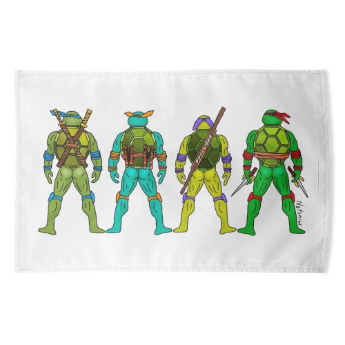 Teenage Mutant Ninja Turtle Butts - funny tea towel by Notsniw Art