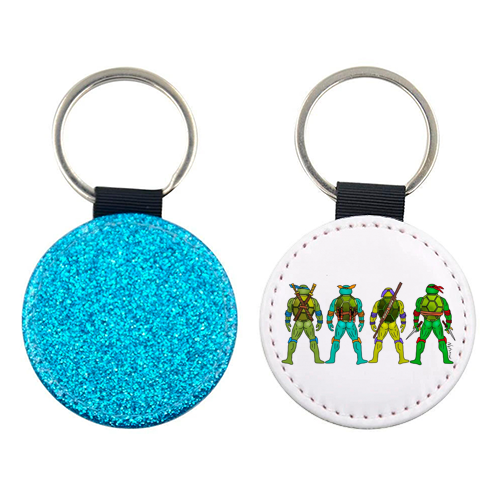 Teenage Mutant Ninja Turtle Butts - personalised leather keyring by Notsniw Art