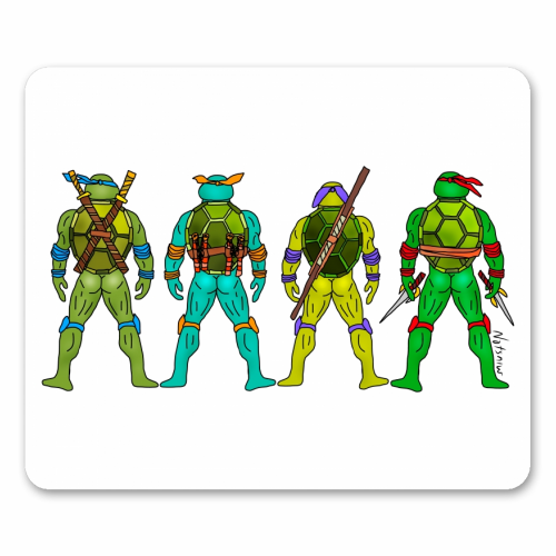 Teenage Mutant Ninja Turtle Butts - personalised mouse mat by Notsniw Art
