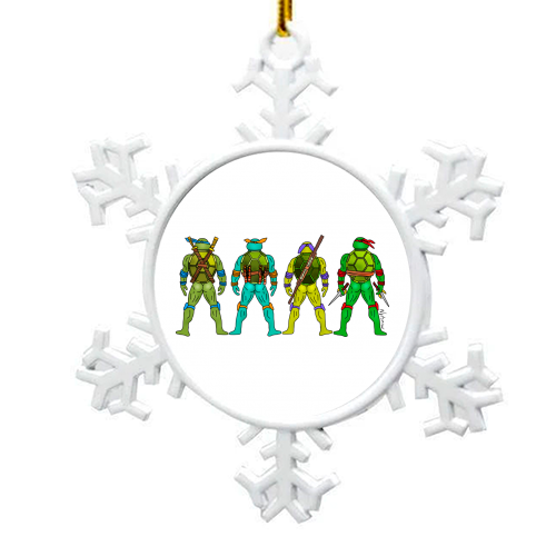 Teenage Mutant Ninja Turtle Butts - snowflake decoration by Notsniw Art
