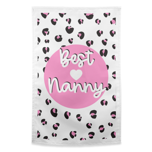Best Nanny - funny tea towel by Adam Regester