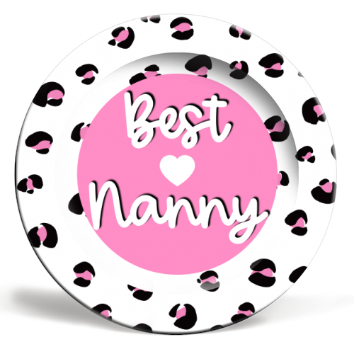 Best Nanny - personalised dinner plate by Adam Regester