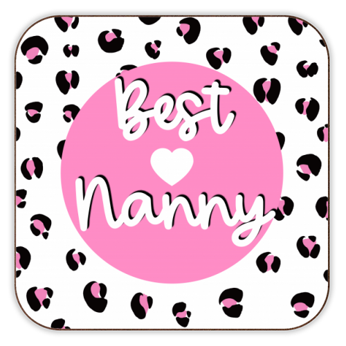 Best Nanny - personalised drink coaster by Adam Regester