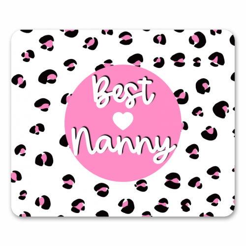Best Nanny - personalised mouse mat by Adam Regester