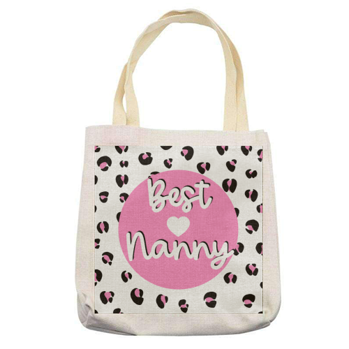 Best Nanny - printed tote bag by Adam Regester