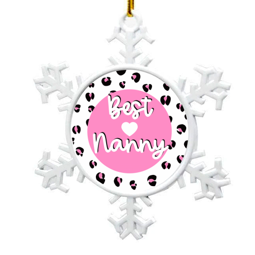 Best Nanny - snowflake decoration by Adam Regester