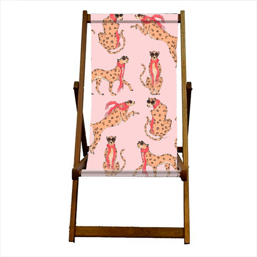 Wild One - canvas deck chair by Natasha Joseph
