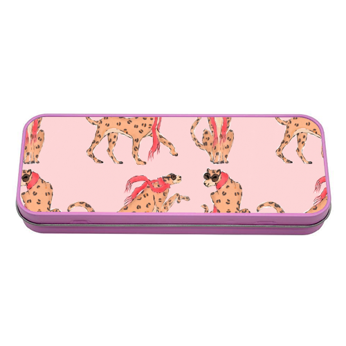 Wild One - tin pencil case by Natasha Joseph