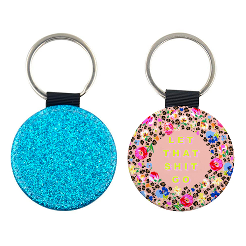 LET THAT SHIT GO - personalised picture keyring by PEARL & CLOVER