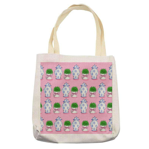 Ginger Jars - printed tote bag by Natasha Joseph