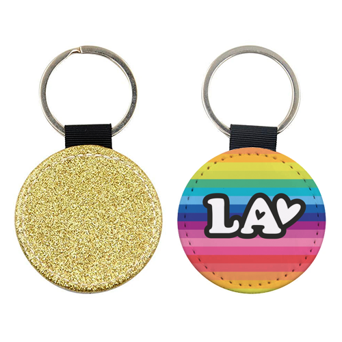 RAINBOW LA - personalised picture keyring by The Boy and the Bear