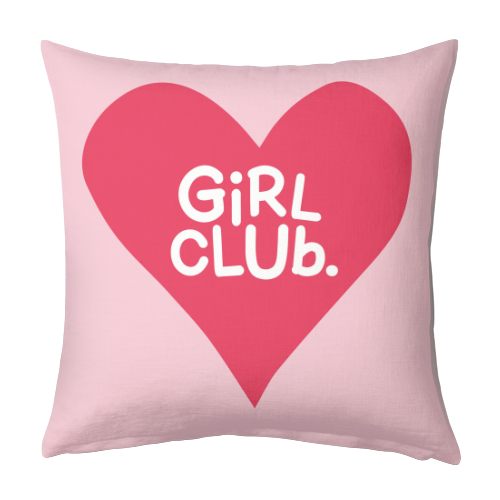 GIRL CLUB - designed cushion by The Boy and the Bear