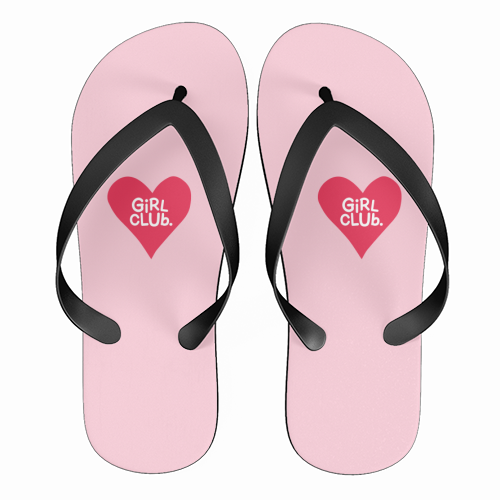 GIRL CLUB - funny flip flops by The Boy and the Bear