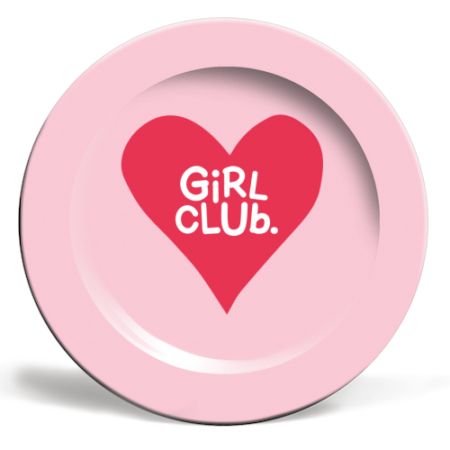 GIRL CLUB - personalised dinner plate by The Boy and the Bear