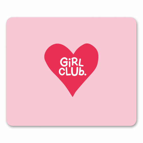 GIRL CLUB - personalised mouse mat by The Boy and the Bear