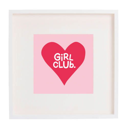 GIRL CLUB - printed framed picture by The Boy and the Bear