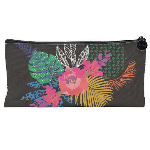 Just Another Day In Paradise brights - unique pencil case by Luxe and Loco