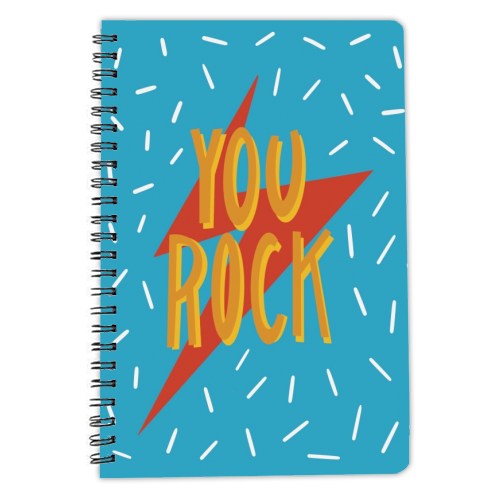 You Rock - designed notebook by Stonefoxes