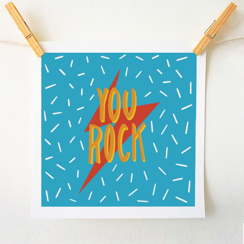You Rock - original print by Stonefoxes