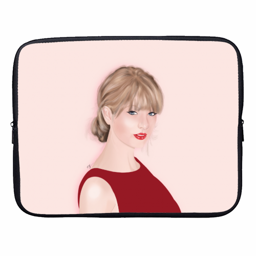 Taylor Swift - designer laptop sleeve by Little Cat Creates