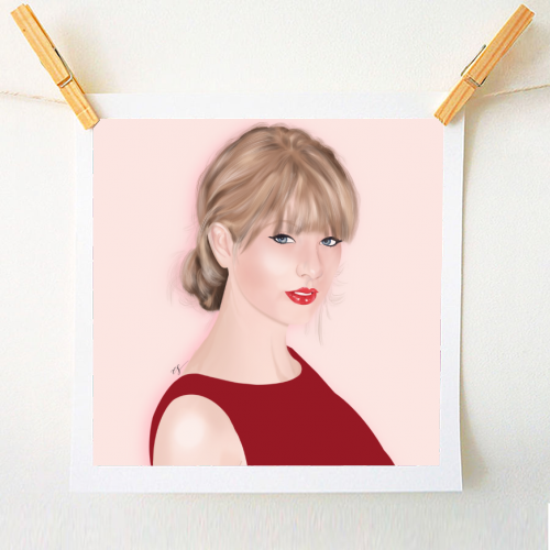 Taylor Swift - original print by Little Cat Creates