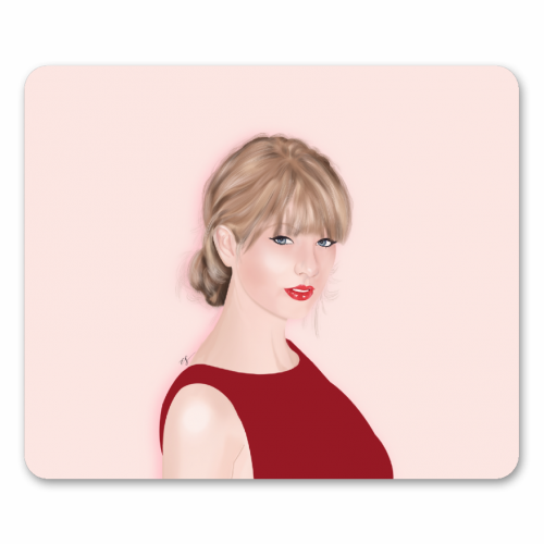 Taylor Swift - personalised mouse mat by Little Cat Creates