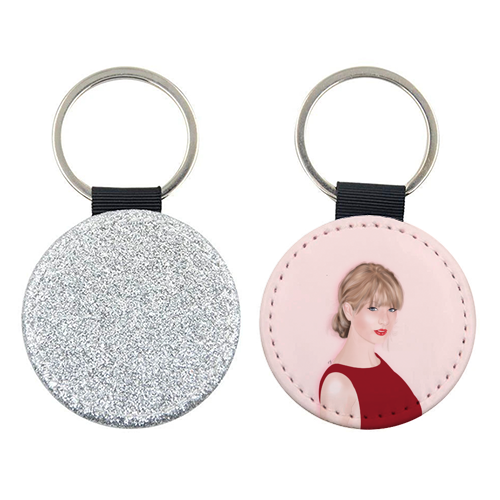 Taylor Swift - personalised picture keyring by Little Cat Creates
