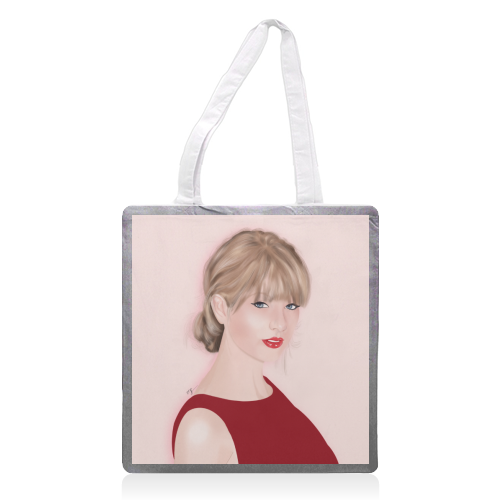 Taylor Swift - printed tote bag by Little Cat Creates