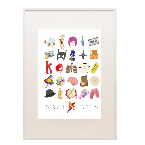 The A-Z of cult films - printed framed picture by Stonefoxes