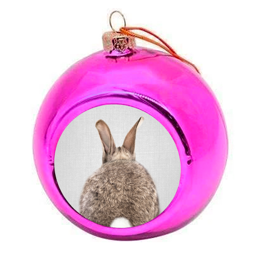 Rabbit Tail - Colorful - colourful christmas bauble by Gal Design