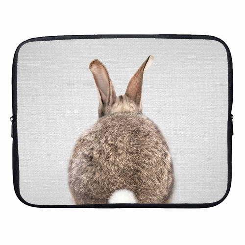 Rabbit Tail - Colorful - designer laptop sleeve by Gal Design