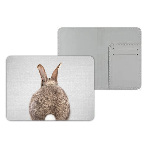 Rabbit Tail - Colorful - designer passport cover by Gal Design