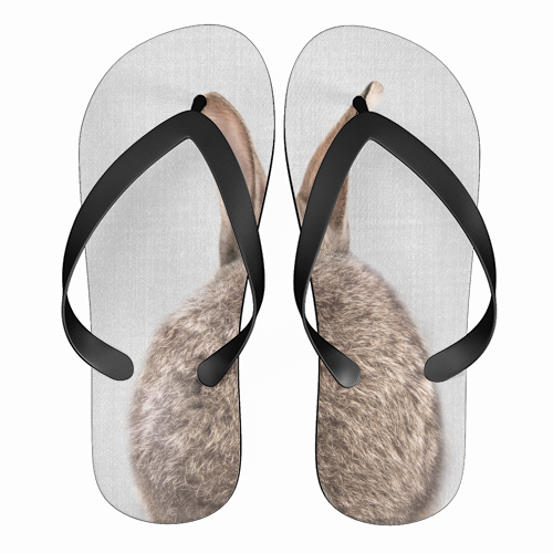 Rabbit Tail - Colorful - funny flip flops by Gal Design