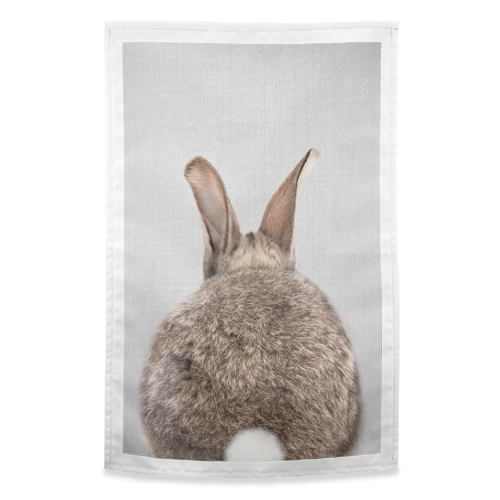 Rabbit Tail - Colorful - funny tea towel by Gal Design